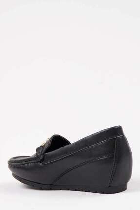 Oioi Kadın Siyah  Dolgu Topuklu Ayakkabı 2