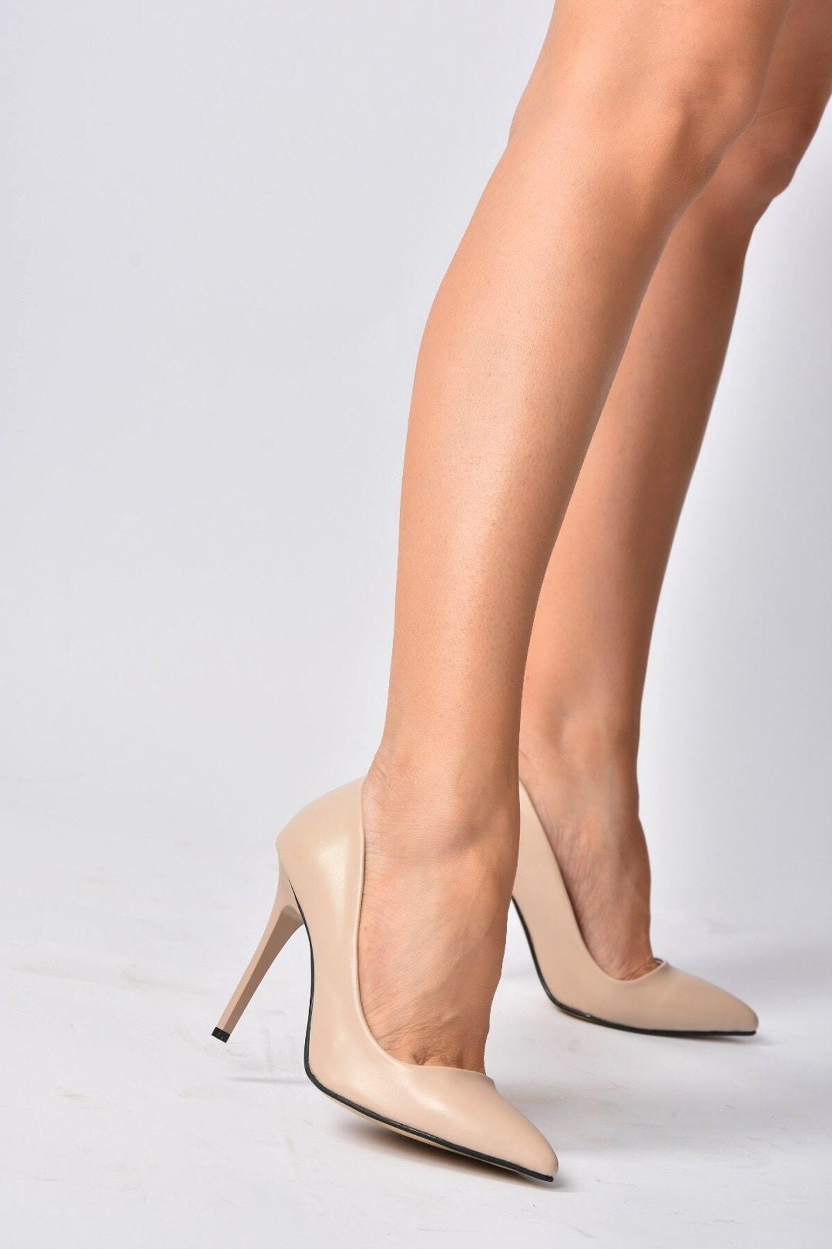 Bej Kadın Topuklu Ayakkabı 8922151909