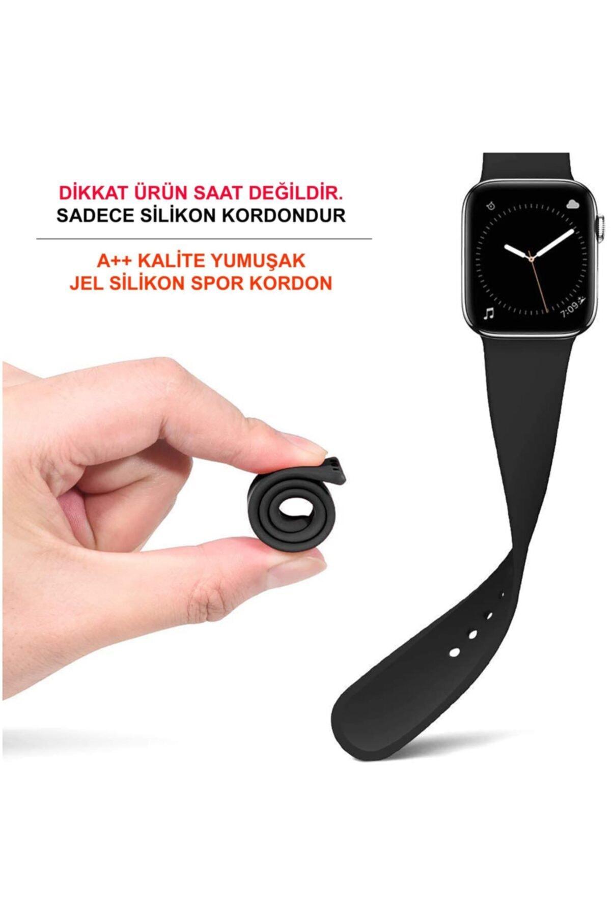 Cimricik Watch Kordon 2 3 4 5 Seri 38 Mm Ve 40 Mm Silikon Kordon Kayış