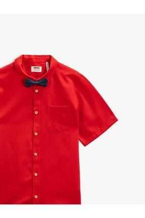 Koton Erkek Çocuk Kırmızı Kısa Kollu Gömlek 2