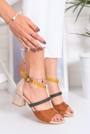 Snowberry Diana Topuklu Süet Sandalet Renkli 0
