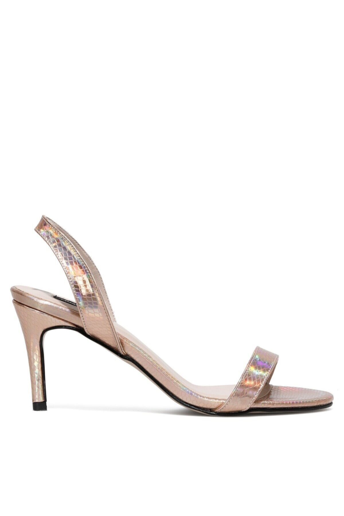 Punamı2 1fx Rose Gold Kadın Topuklu Ayakkabı