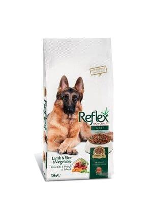 Reflex Kuzu Etli, Pirinçli Ve Sebzeli Yetişkin Köpek Maması 15 kg 0
