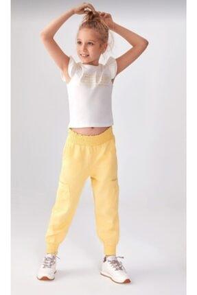 Picture of 56405 Kız Çocuk Sarı Salaş Pantolon
