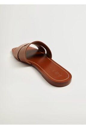 Mango Kadın Deri Bantlı Sandalet 4