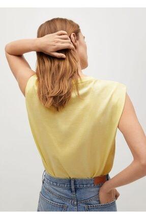 Mango Kadın Organik Pamuklu T-shirt 3