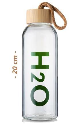 Tohana H2o Borosilikat Cam Matara Bambu Vakum Kapaklı Su Şişesi Suluk 4