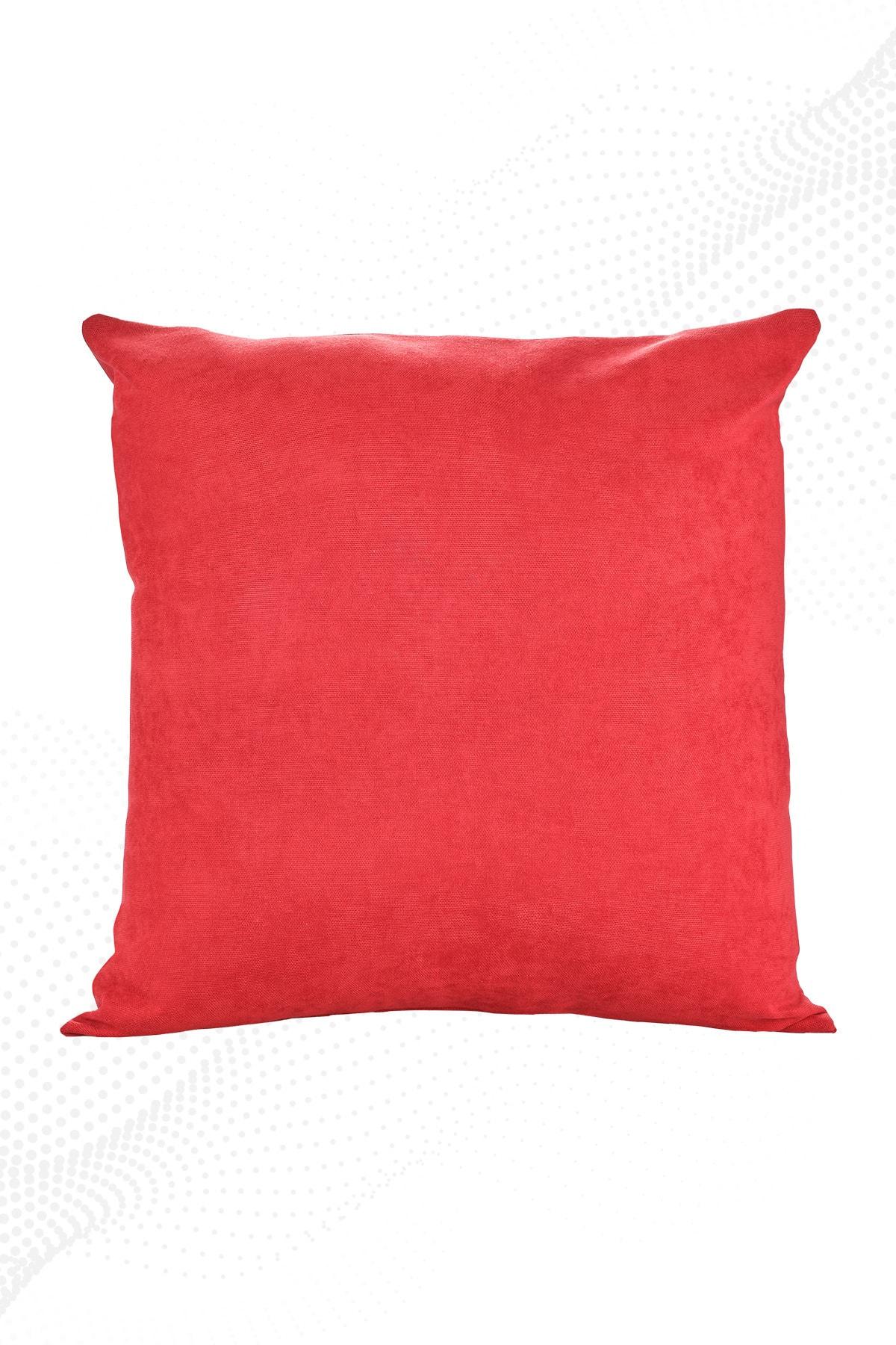 Kırmızı Kırlent Kılıfı Dekoratif Düz Sade Panoroma-113