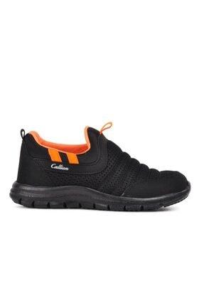 1006 Siyah-turuncu Hafif Bağcıksız Çocuk Spor Ayakkabı resmi