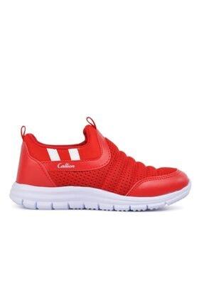 1006 Kırmızı Hafif Çocuk Bağcıksız Spor Ayakkabı resmi