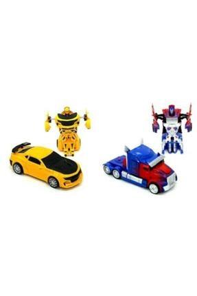 VARDEM OYUNCAK Transformers Bumblebee Optimus Prime Çek Bırak Robot Olan Oyuncak Arabalar 0