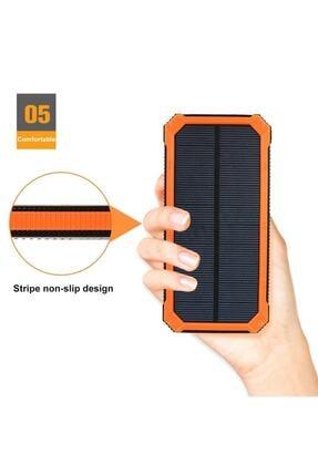 ULTRATEKNO 12.000 Mah Solar Güneş Enerjili Taşınabilir Şarj Powerbank Fener 1