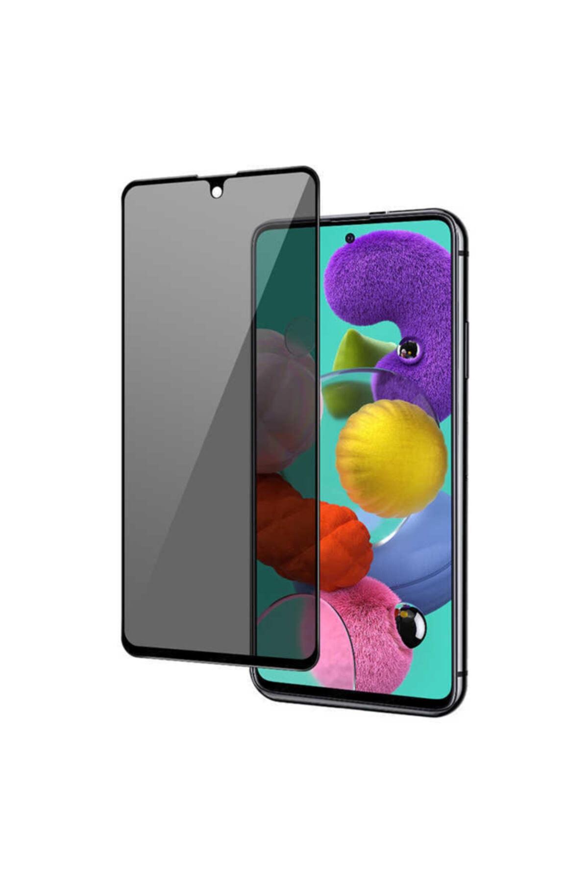 Fibaks Redmi Note 10s Uyumlu Ekran Koruyucu Temperli Kırılmaz Cam Privacy Hayalet Gizliklik Filtreli