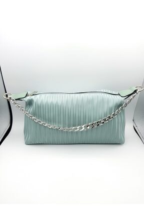 Mint Yeşili Zincirli Baget Çanta 29416111
