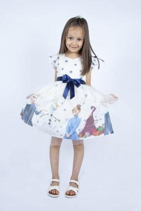 Beyaz Elsa Karlar Kraliçesi Kız Çocuk Elbisesi 222321