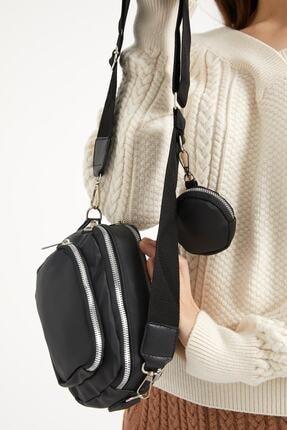 Çantacımstore Siyah Kadın Kolon Askılı Cüzdanlı Vitale Omuz Çantası 3