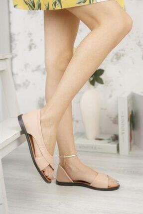 Moda Frato Kadın Pudra Açık Sandalet 2