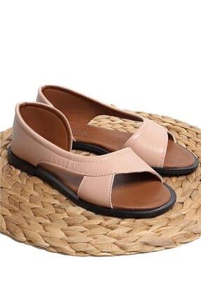 Moda Frato Kadın Pudra Açık Sandalet 4