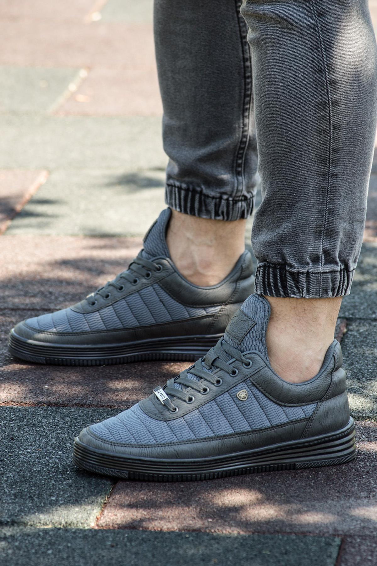 077 Füme Siyah Summer Erkek Spor Ayakkabı