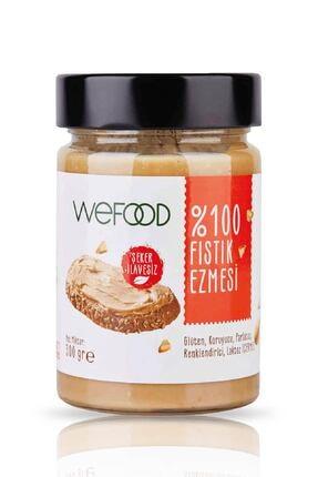 Wefood Şekersiz Sade %100 Fıstık Ezmesi 300 gr (Fıstık Parçacıklı) 0