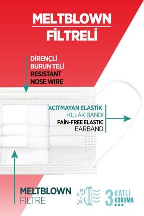 ALVENT Beyaz Elastik Kulaklı Meltblown Maske 50 Adet (TIP 2R) - En Az %98 Koruma - Ma-250 2