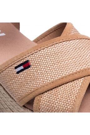 Tommy Hilfiger Kadın Kahverengi Dolgu Topuk Sandalet En0en00910-gqe 2