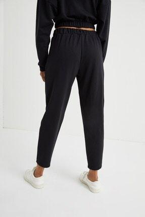 Curly Store Kadın Siyah Cepli Jogger Pantolon 4