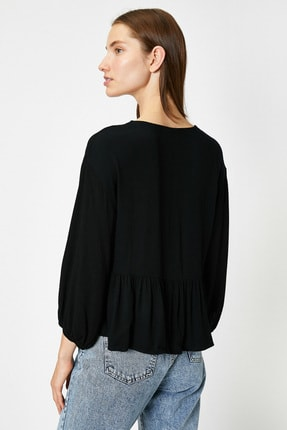 Koton Kadın Siyah Bluz 0YAL68581IW 3