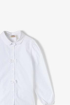 Koton Beyaz Kız Çocuk Gömlek 1
