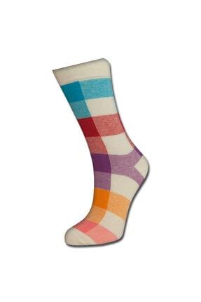 TUTKU ÇORAP Unisex Turuncu Desenli Çorap 1
