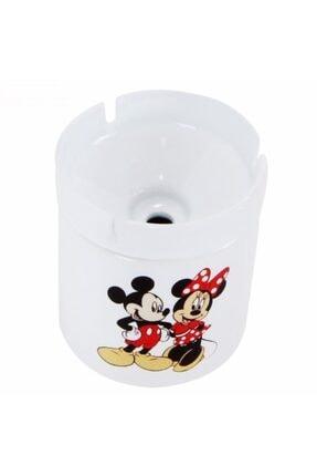 HediyeKanalı Mickey Mouse Minnie Mouse Tasarımlı Seramik Küllük 0