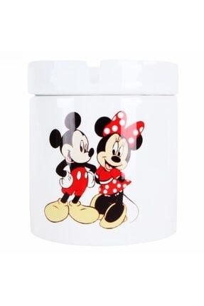 HediyeKanalı Mickey Mouse Minnie Mouse Tasarımlı Seramik Küllük 1