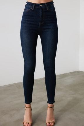 TRENDYOLMİLLA Mavi Yüksek Bel Skinny Jeans TWOAW21JE0388 4