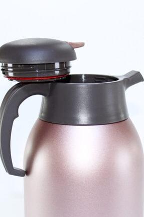 Cooker Ckr2025 Pembe 2.0 Litre 304 Paslanmaz Çelik Çay Ve Su Termosu 24 Saat Sıcak Soğuk 1