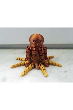 AldımGeldi Sevimli Mini Ahtapot Dekoratif Biblo Dekor Hediyelik Süs 3