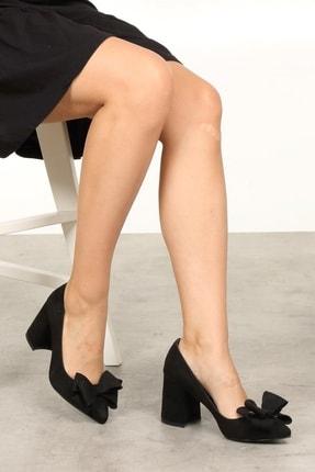 Mio Gusto Siyah Kadın Topuklu Ayakkabı 002057BL 2