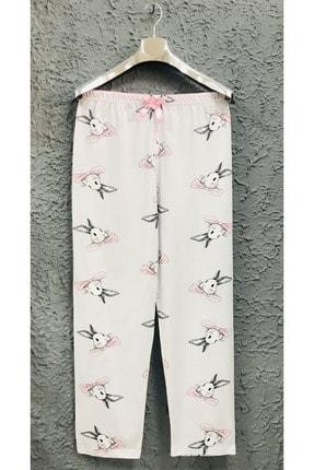 Yağmur Tekstil 1. Kalite %100 Gri Ince Kadın Tek Alt Pijama Altı 0