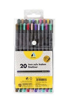 Adel Fineliner 0.4mm Kalem 20 Renk Karışık 0