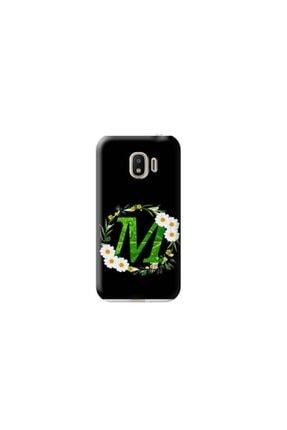 Kılıf Madeni Samsung Galaxy J2 Pro M Harfli Papatya Tasarımlı Telefon Kılıfı 0