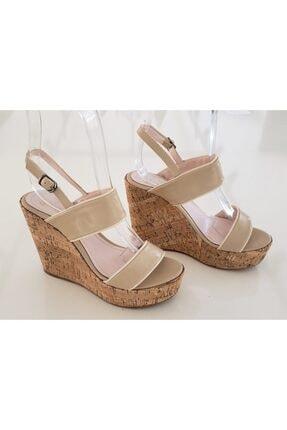 VALERIA / RM AYAKKABI Kadın Bej Dolgu Topuklu Ayakkabı 0