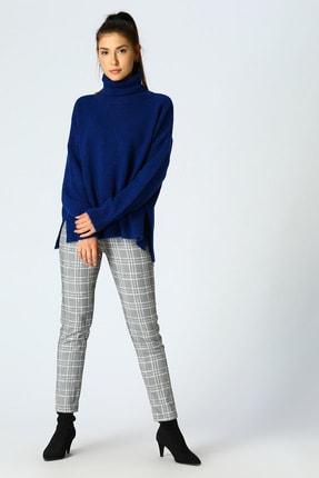 LİMON COMPANY Kadın Renkli Kareli Pantolon 502954330 0