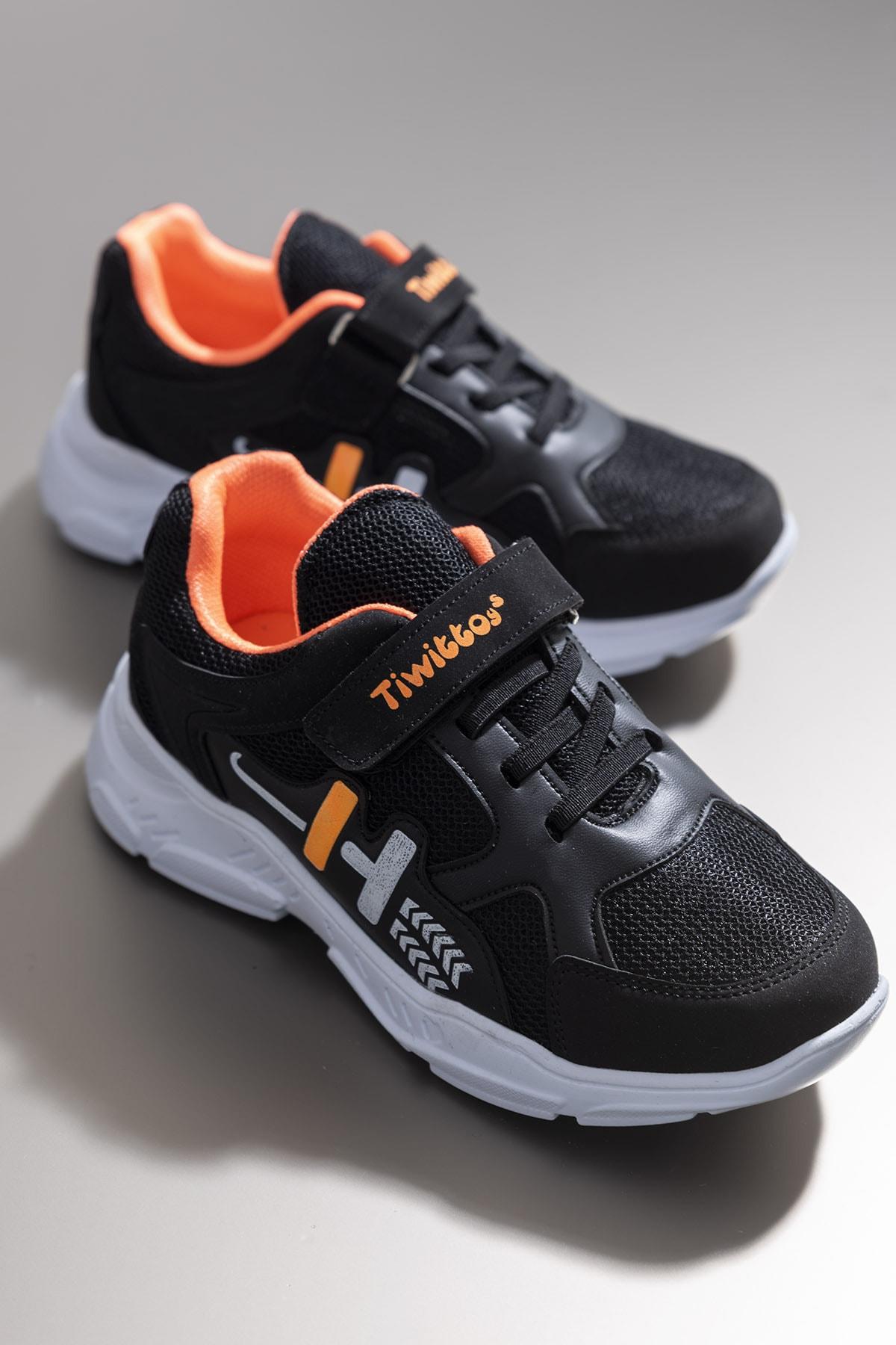 Tonny Black Siyah Turuncu Erkek Çocuk Sneaker TBZ13-3 0