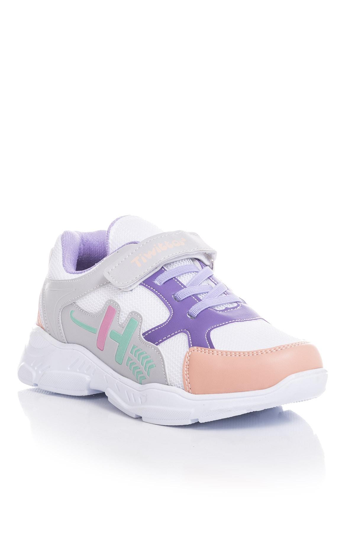 Tonny Black Beyaz Kız Çocuk Sneaker TBZ13-3 1