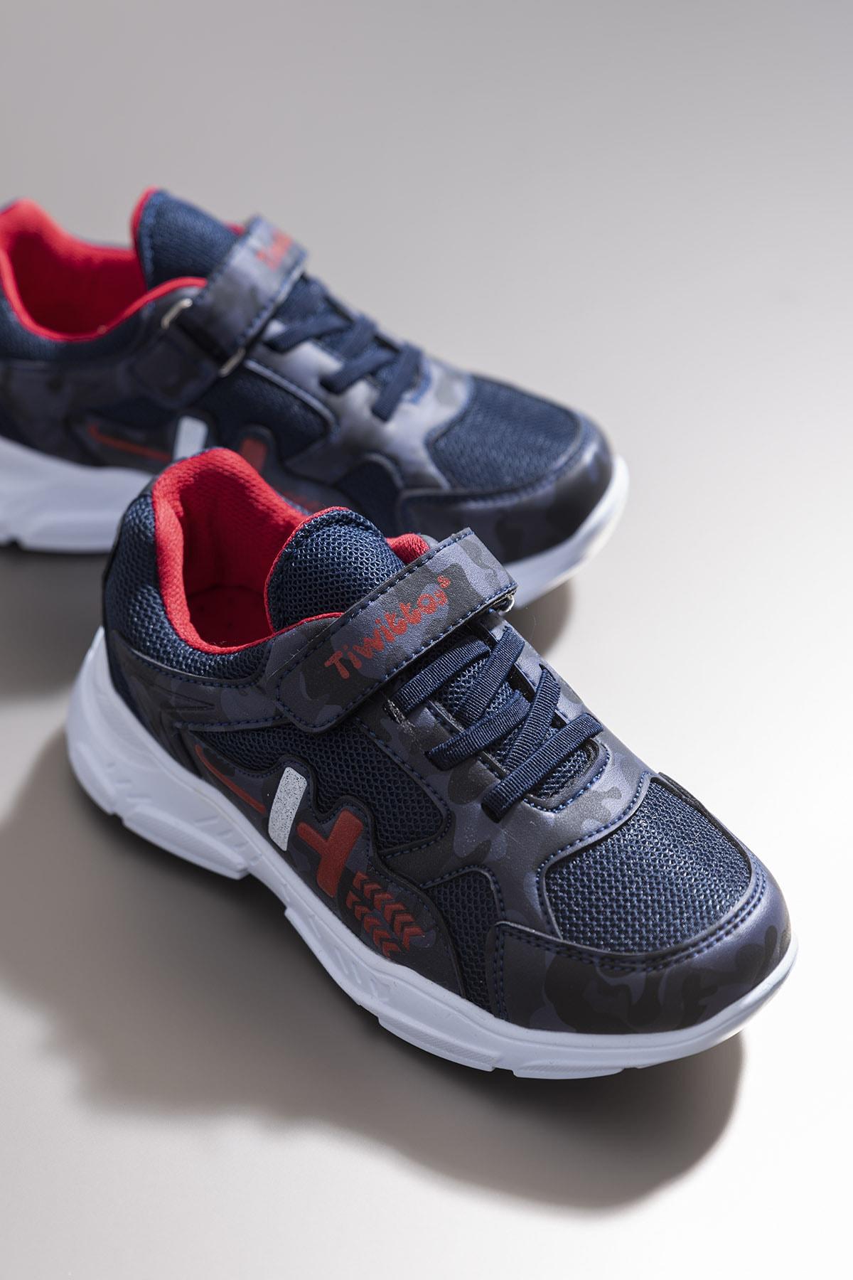 Tonny Black Erkek Çocuk Lacivert Kırmızı Sneaker TBZ13-3 0