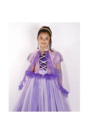 Mashotrend Pelerinli Payetli Tarlatanlı Rapunzel Kostüm 0