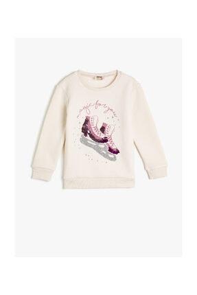 Koton Ekru Kız Çocuk Sweatshirt 0