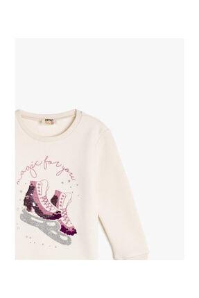 Koton Ekru Kız Çocuk Sweatshirt 2