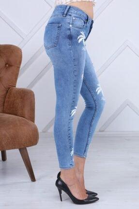 PERİSCOPE Kadın Mavi Ön Baskı Jeans 2