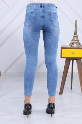 PERİSCOPE Kadın Mavi Ön Baskı Jeans 4