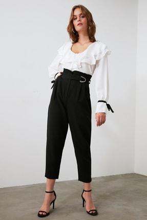 TRENDYOLMİLLA Siyah Toka Detaylı Pantolon TWOAW20PL0466 1